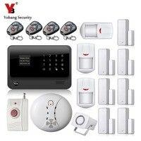 YobangSecurity Android IOS APP Smart Home Security Wifi GSM Alarm Systems Wireless Door Contact PIR Alarm Sensors Panic Button