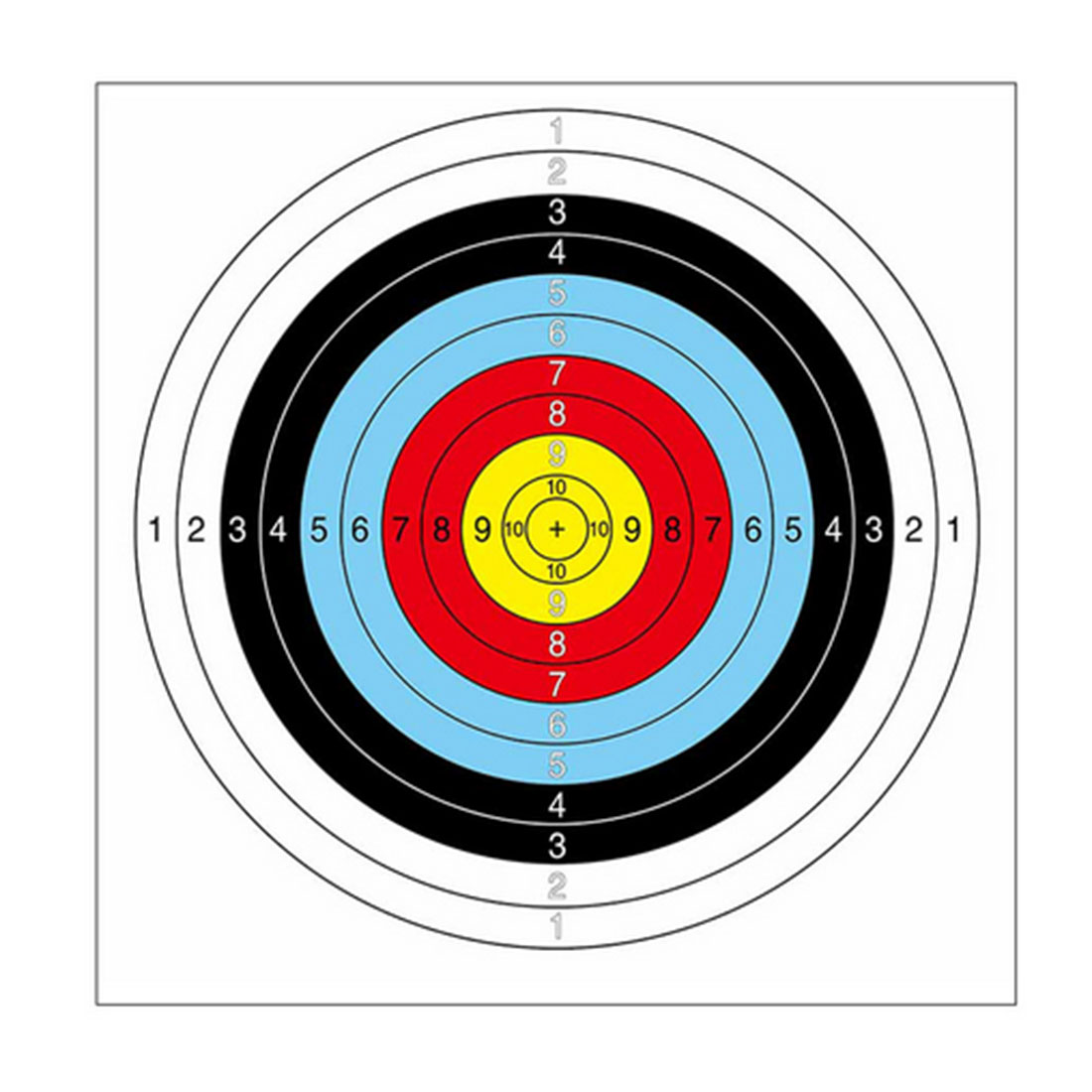 1000Pcs/set 40*40cm Semiring Circular Target Sheet for Outdoor Shooting Practice Children Sports Toys