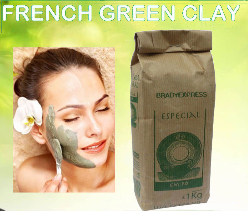 New Organic FRENCH GREEN CLAY Powder Face Skin Mask 1Kg 2.2LB THE CHEAPEST Free Shipping