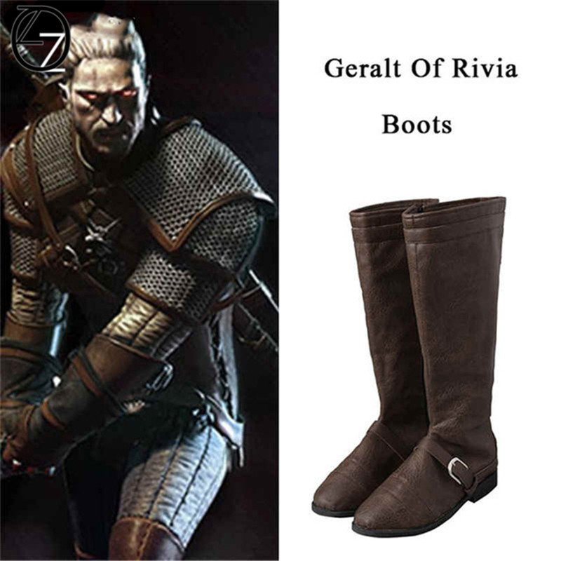a321e1ad6e Custom Made Geralt of Rivia Cosplay Boots The Witcher 3 Wild Hunt Cosplay  Shoes Game Cosplay