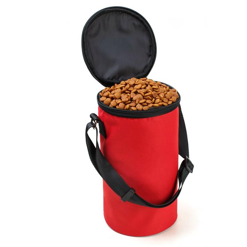 휴대용 옥스포드 방수 애완 동물 강아지 그릇 고양이 그릇 음식 가방 개 피더 여행 음식 그릇 개 식품에 대 한 건조 식품 컨테이너 4 색