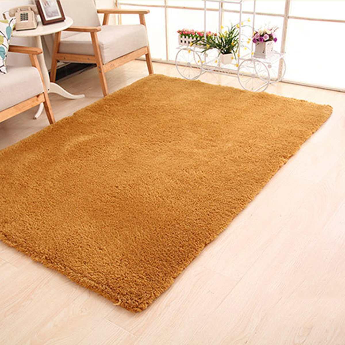 Doux moelleux Shaggy salon tapis chambre salle de bain anti-dérapant tapis canapé sol tapis Pad zone tapis grand 160x200 cm décor à la maison