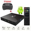 Amlogic S905X X96 Android 6.0 Tv Box 2 GB Ram 16 GB Rom Quad Core Inteligente Media Player 4 K 2 K H.265 WiFi + i8 Mini Wireless teclado