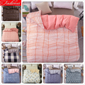 Новый креативный пододеяльник в розовую полоску  1 предмет  пододеяльник  односпальное одеяло королевского размера  одеяло  постельные прин...