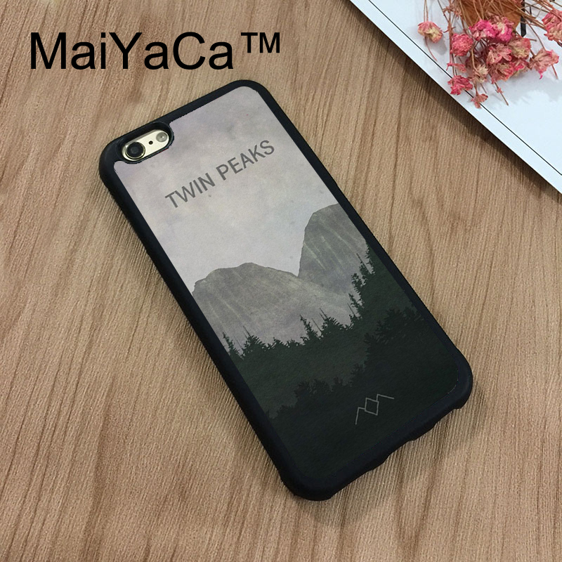 MaiYaCa Twin Peaks Painting New For iPhone 7 Case 4.7 Protect Case Cover Shockproof Rubber Hard Phone Cases Coque