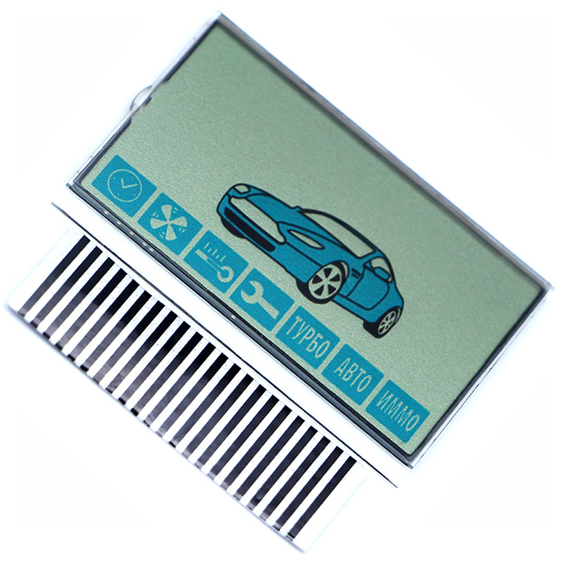 A91 LCD Display Screen Flexible Cable + LCD Keychain Zebra Stripes For Starline A91 LCD Remote Controller Display