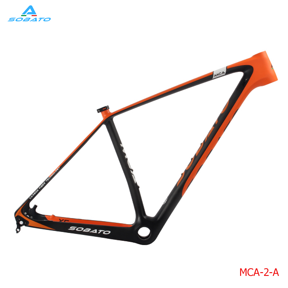 SOBATO 2017 Ultima Carbonio Ciclismo Telaio Full Carbon Mountain Bike MTB 29ER Thru Axle Frame + Asse 142mm