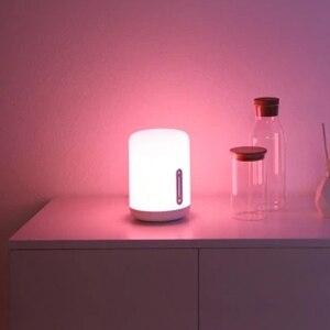 Image 4 - Прикроватная лампа Xiaomi Mijia, светодиодный умный светильник с двумя лампами, Wi Fi/Bluetooth, работает с приложением Apple HomeKit, 2018