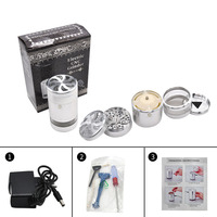 CNC Aluminum Diameter75 MM Electric Herb Grinder Spice Crusher Tobacco Smoke Hand Muller Grinders Smoking Accessories