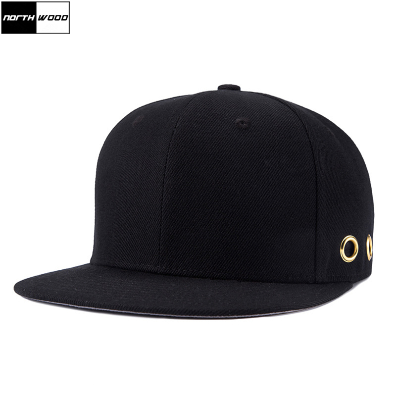 [NORTHWOOD] 2018 Solid Bone Snapback Caps Gorra Black Snapback Hats For Men Brand High Quality Unisex Black Hip Hop Baseball Cap