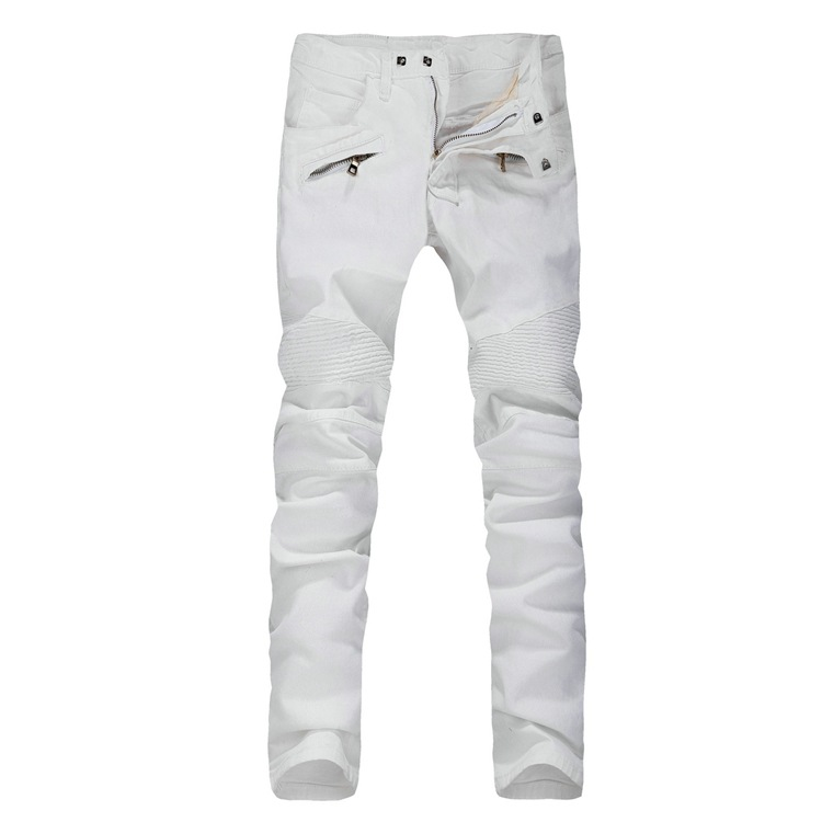 mens white denim jeans - Jean Yu Beauty