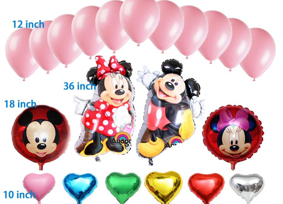 21pc/lot Happy birthday decoration Number balloon Helium Foil Balloons Baby birt