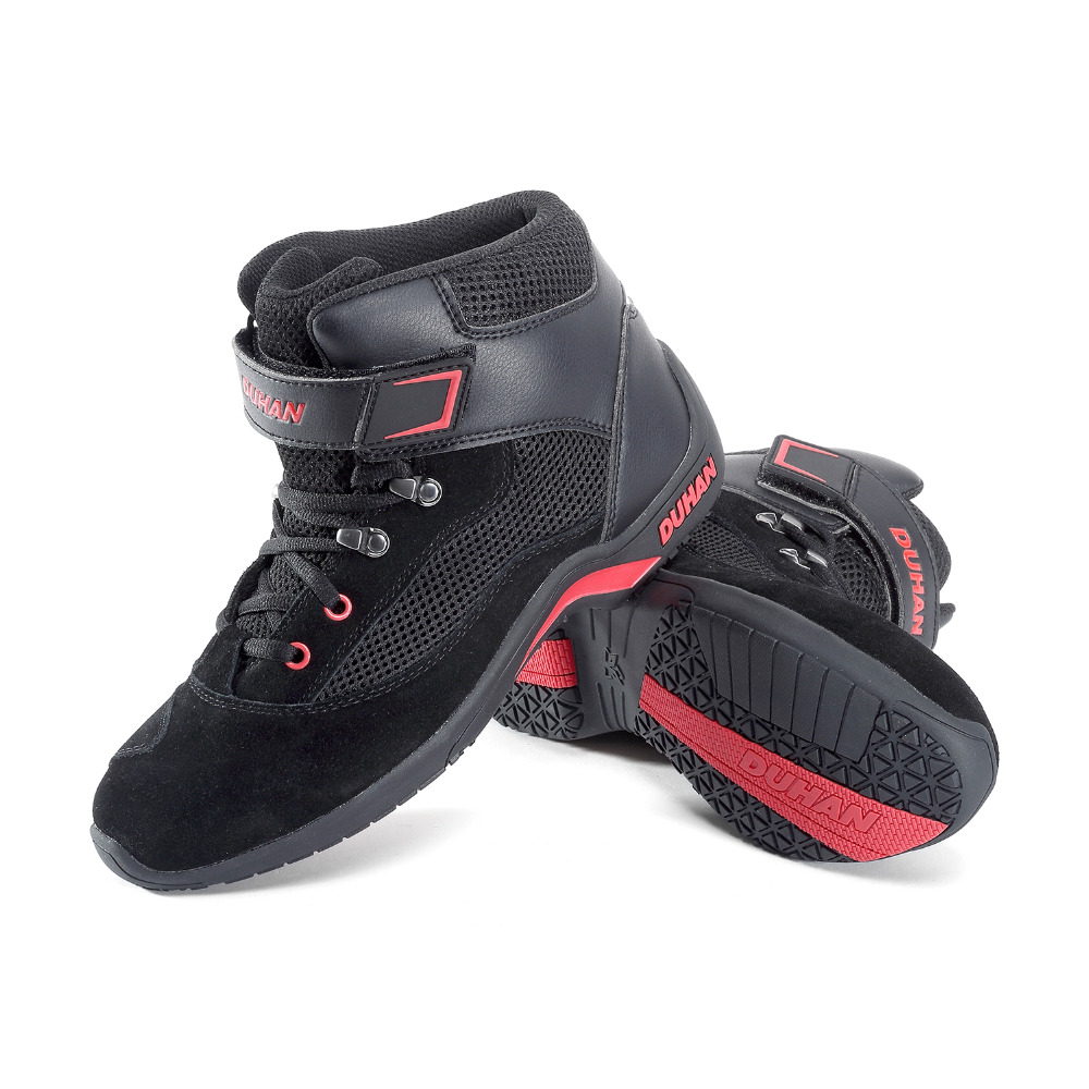 DUHAN Motorcycle Boot Moto Riding Boots Genuine Cow Leather Motorbike Biker Chopper Cruiser Touring Ankle Shoes