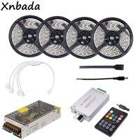 RGB Led Strip 60Leds/m 2835SMD Flexible Light With 18Keys RF Music RGB Led Controller Transformer Kit 5M 10M 15M 20M