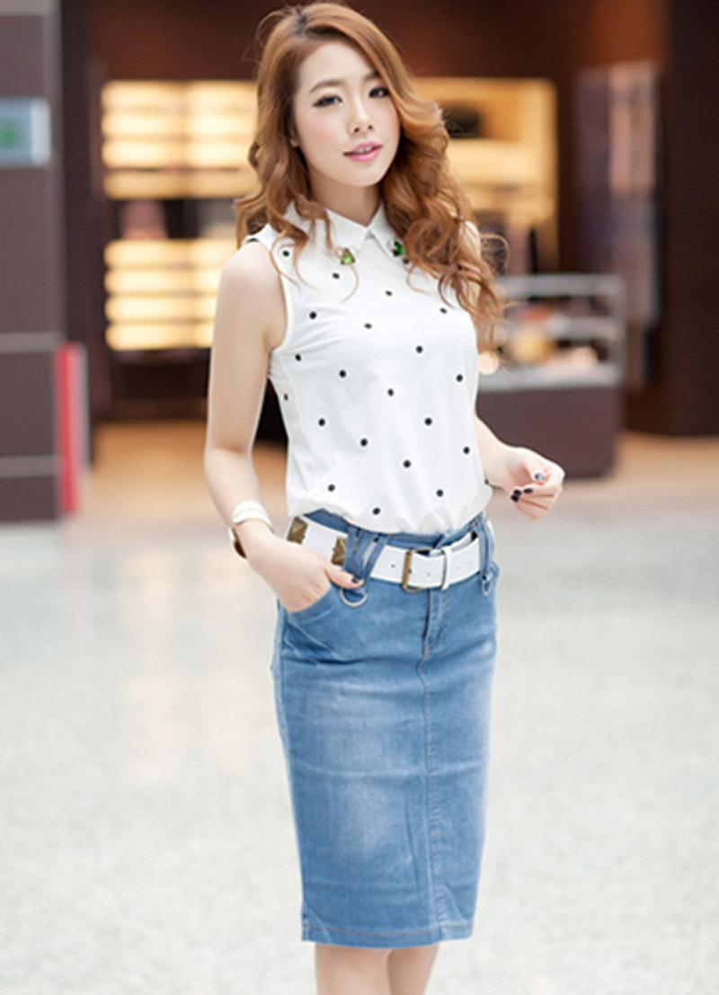 Aliexpress.com : Buy New Fashion Casual Denim Skirts Autumn Summer ...