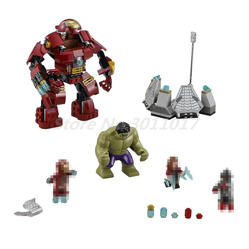 Super Heroes  Building Blocks 7110 Avangers The Hulk Buster Smash 76031 Model Sets Educational Toys For Children Gifts building blocks super heroes back to the future doc brown and marty mcfly with skateboard wolverine toys for children gift kf197