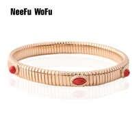 NeeFuWoFu 7mm printemps chaîne Bracelet cuivre pierre naturelle Bracelets bohême de Madera Pulseira Estrela de Cinco Perles élastiques