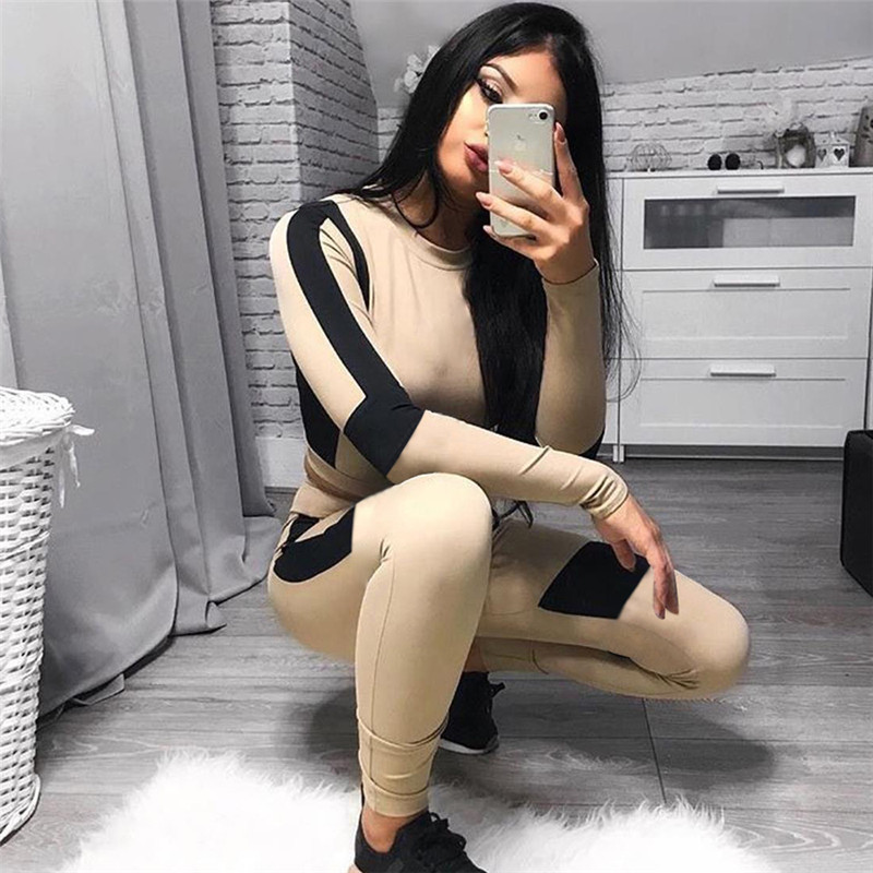 Juventus Ladies Lengthy Sleeve Health Set Sports activities Set Fitness center Clothes Strong Patchwork Leggings+Cropped Shirts Exercise Sport Go well with Energetic Yoga Units, Low-cost Yoga Units, Juventus Ladies...