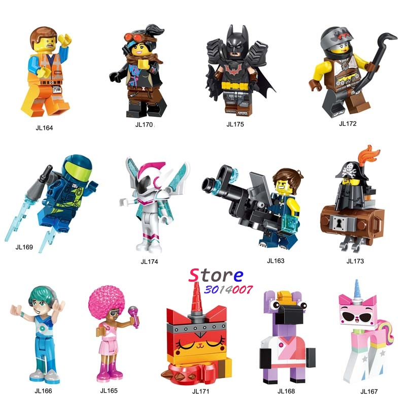 Single Building Blocks Cartoon Movie  Bricks Series Emmet REX Ultrakatty Lucy Tire  Batman Melody Toys For Children