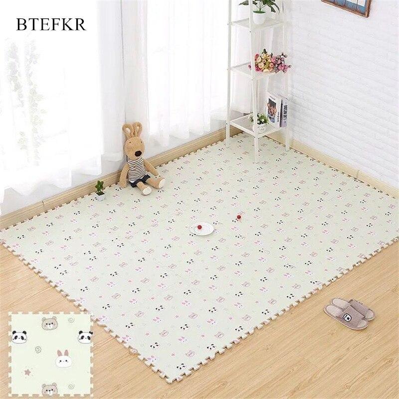 Baby Play Mat Cartoon Pattern EVA Foam Children's Mat Puzzle Toys For Children Carpet In The Nursery 30x30cm Tapis Enfant