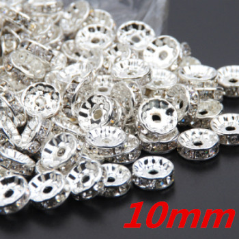 Silver Color Crystal Rhinestones Beads 6mm 8mm 10mm Rondelle Spacer Beads  500pcs pack For Bracelet Jewelry Making DIY-in Beads from Jewelry    Accessories on ... 877e4b1c8fc9