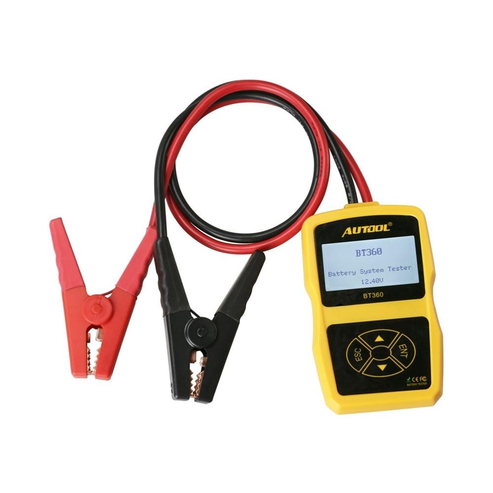 Image 4 - מקורי Autool BT360 אוטומטי סוללה בודק 12 v רכב סוללה מנתח 2000CCA 220AH רב שפה רע סלולרי מבחן רכב כליםcar toolsautomotive battery analyzertester 12v -