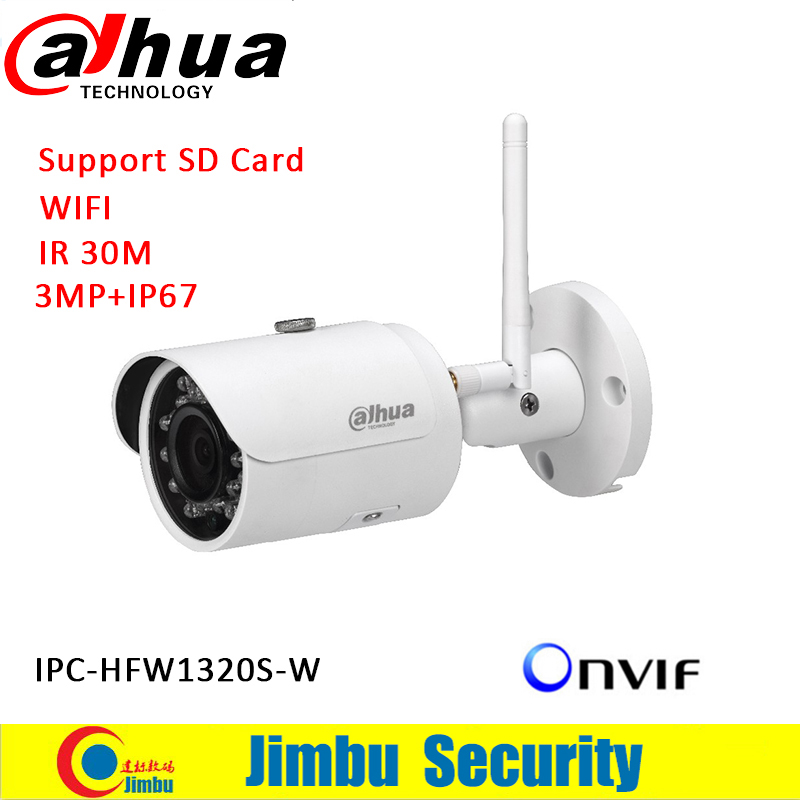 dahua bullet wifi camera IPC-HFW1320S-W 3MP Max. IR LEDs Length 30m IP67 Micro SD card slot, up to 128GB Easy4ip coud support