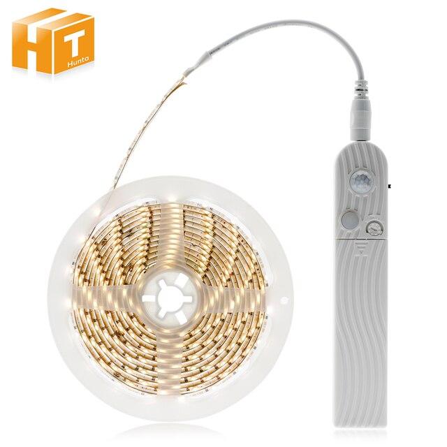 PIR Motion Sensor Schalter LED Streifen Set 1 M 2 M 3 M DC12V 5 M SMD2835 LED Unter Bett licht Schlafzimmer Nacht Lichter Weiß/Warm Weiß