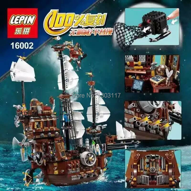 ФОТО presale 2016 new 16002 lepin 2791pcs pirate ship metal beard