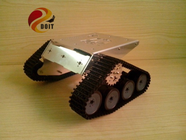 DOIT Metal Crawler Chassis Caterpillar RC Robot Tank Wall-E Intelligent Barrowload DIY Electronic Toy Development doit rc t300 metal wall e tank chassis