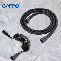 GAPPO Shower Hoses Flexible Hose 1.5m Black Brass Plumbing Hoses Bathroom Accessories Flexible Tube Pipe Fro Bathroom