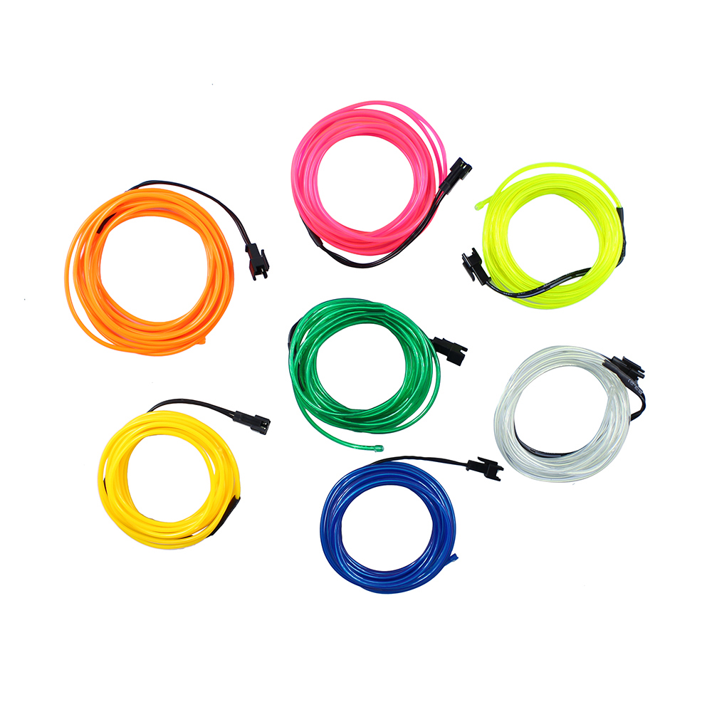 1pcs 3M Flexible EL Wire Tube Rope Battery Powered Flexible Neon ...
