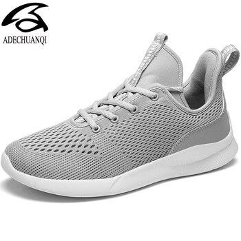 Spring Mesh Men's Sneakers Soft Breathable Casual Men Shoes Sport Outdoor Anti-skid Men Footwear's Flat Big Size
