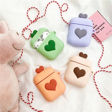 LAUFH LIFE Candy Luxury Earphone Case for Silicone Airpods Cute Heart For  Apple