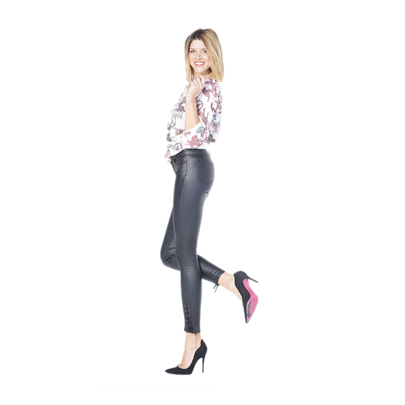 My Will Jeans Ladies Black Cropped Trousers Jeans 6680 Made In China