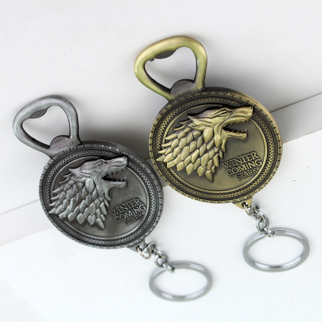 Winter Is Coming-Stark, Bottle Opener-Keychain