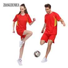 ZHANGCHUNHUA 2017 New Men's Clothing Set Exercise Track Short Sleeve + Shorts 2 Piece Suits Sportswear Tracksuit