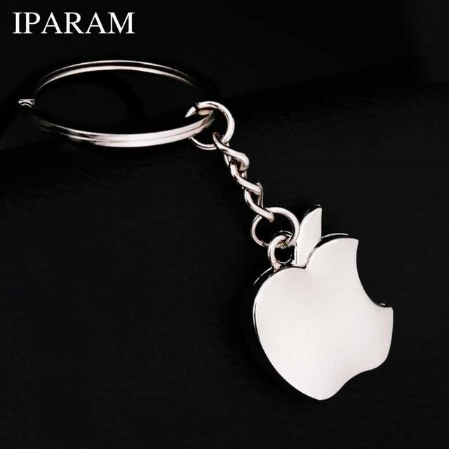 IPARAM New arrival Novelty Souvenir Metal Apple Key Chain Creative Gifts Apple K