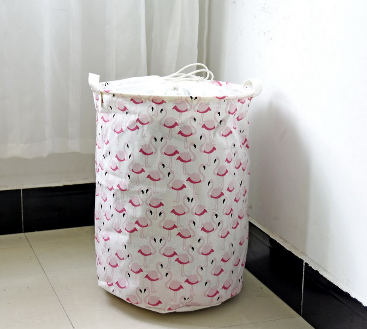 Lovely Foldable Cotton Linen Washing Clothes Laundry Basket Bag Hamper Storage  Multi Function Handle Stackable Storage Toy Storage Box In Laundry Bags U0026  Baskets ...