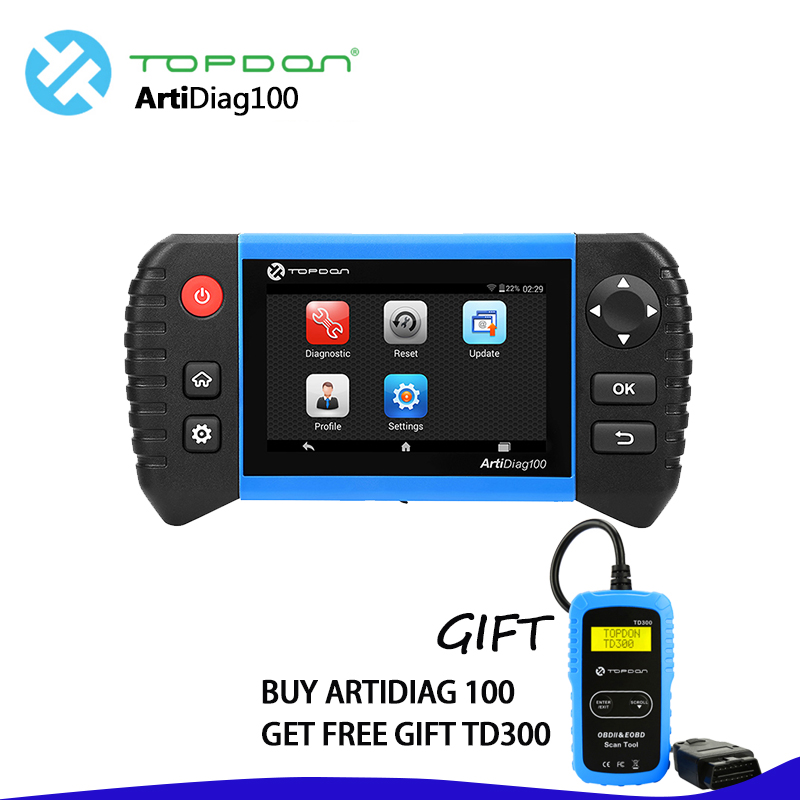 TOPDON ArtiDiag 100 Diagnostic tool Oil reset/EPB/BMS/SAS Reset/DPF Function All system scanner GIFT TD300 auto diagnostic tool