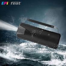 EPICfeatแบบพกพาไร้สายกล่องเสียงอาบน้ำกันน้ำมัลติฟังก์ชั่คอลัมน์ลำโพงบลูทูธที่มีแสงนำธนาคารอำนาจ