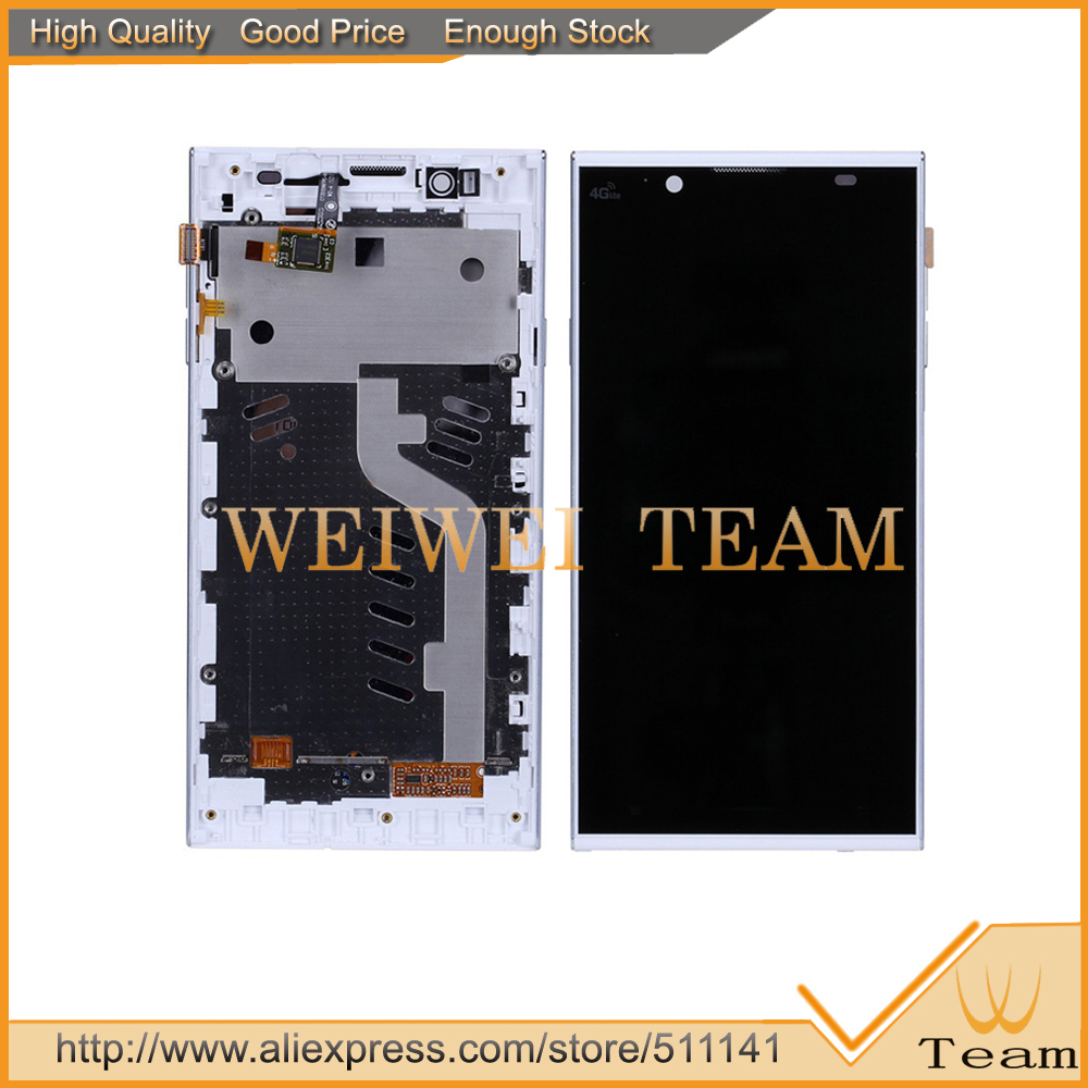 White Color Original 5.3 inch HD for Inew L1 LCD Display Screen +Touch Panel Digitizer With Frame OGS IPS screen