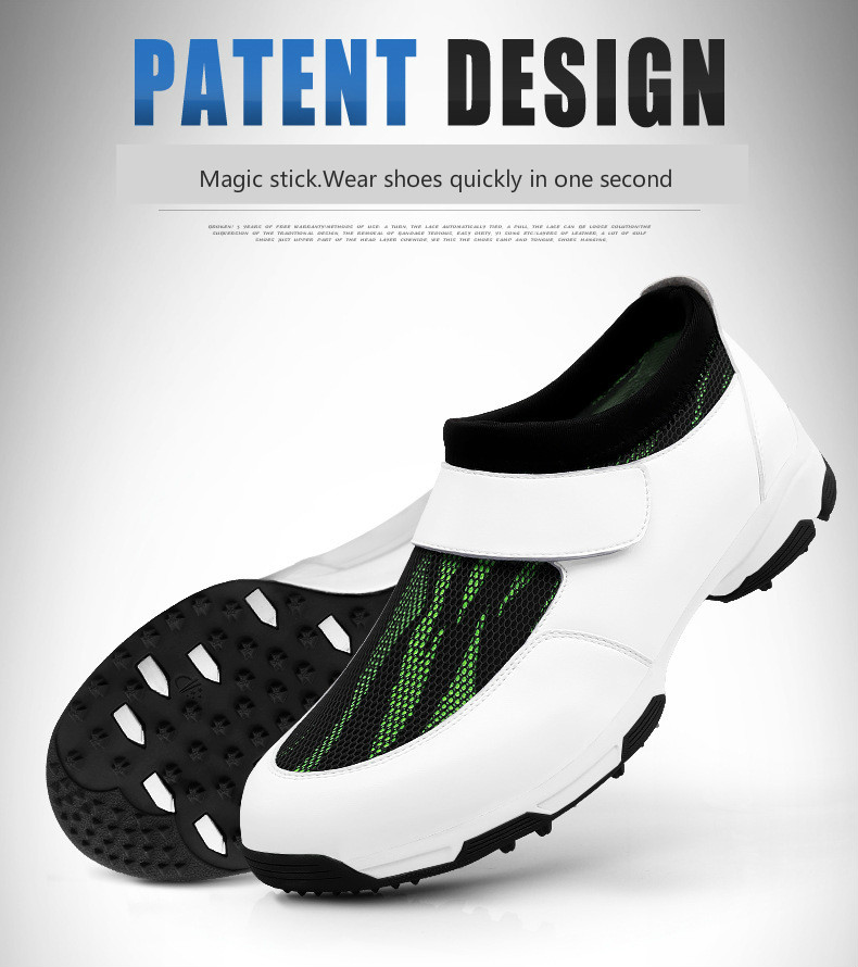2018 PGM men's shoes golf shoes design patent anti-skid breathable shoes Golf shoes pgm genuine golf shoes men s double patent golf shoes high performance anti collision exoskeleton anti skid soles