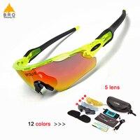 Polarisierte Sport Männer Sonnenbrille Rennrad Brille Mountainbike Fahrrad Reiten Schutz Brille Brillen 5 Objektiv-in Fahrrad Brillen aus Sport und Unterhaltung bei
