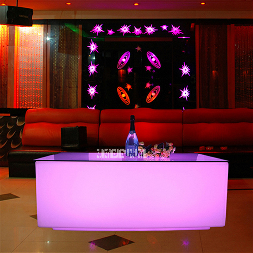 High-quality Creative Colorful LED Bar Table KTV Coffee Table Remote Control Color Change 16-Color Led Light Bar Table 8-10Hours