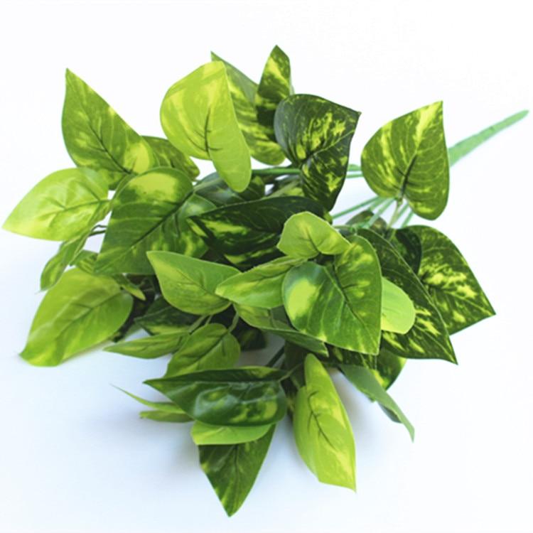 Mākslīgie ziedi zaļie augi podiņā dekorēti kafejnīcu restorāni ar sienām ieklāti mūžzaļie zaļie dilles 6gab / partija