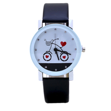 New Fashion Love Bike Couple Watches Suitable For Luxury Women Dress & Casual Sports Men Round Buckle Leather Watches