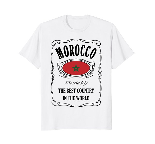US $18 99 |Summer Novelty Cartoon T Shirt Morocco Moroccan Flag Moorish  Movie Shirt Fashion Classic Unique gift T Shirt-in T-Shirts from Men's