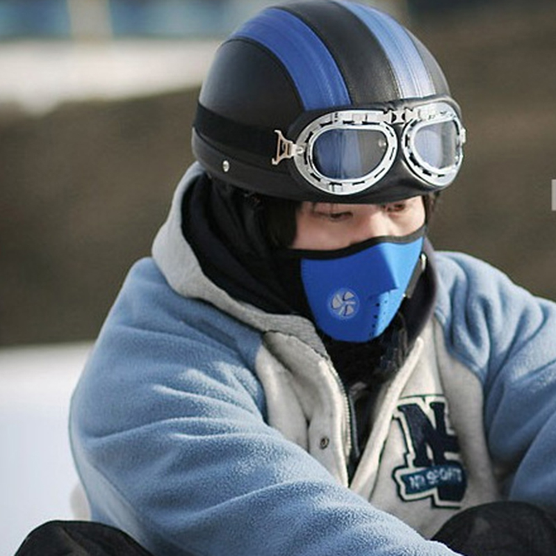 BONJEAN winter face mask skull windproof cap motorcycle bike running ski mask warm hat bonnet homme cap men Neck Warmer Skullies skull style half face mask old silvery