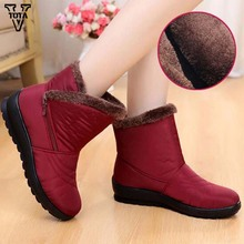VTOTA Women Winter Warm Boots Fashion Snow Boots Women Ankle Boots Women Shoes Warm Fur Plush Insole Shoes Woman Botas Mujer